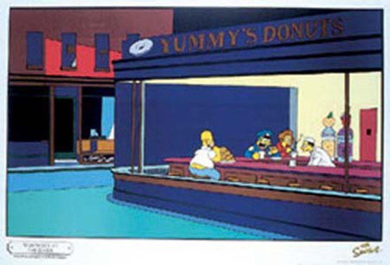 Póster de Los Simpsons imitando cuadro de Edward Hopper (91,5 x 61 cm) https://amzn.to/2GqgSOU