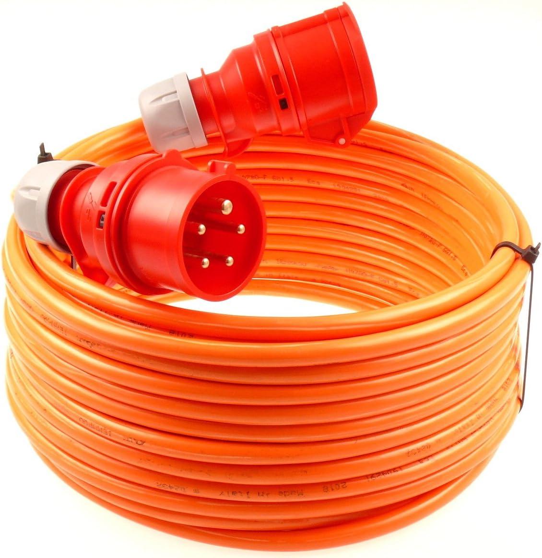 netbote24/® CEE Starkstromkabel Verl/ängerungskabel 16A 400V Pur-Leitung H07BQ-F 5g1,5 Au/ßen 25m