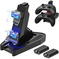 Dual Controller Charger Station Compatible with Xbox Series X/S, Fast Charging Station X/S Accessories Kit with 2X1400…
