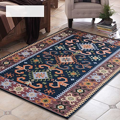 SE7VEN Mediterranean Style Carpet Blanket for Living Room and Tea Table Northern Europe Bedside Carpets for Bedroom-A 63x91inch 160x230cm