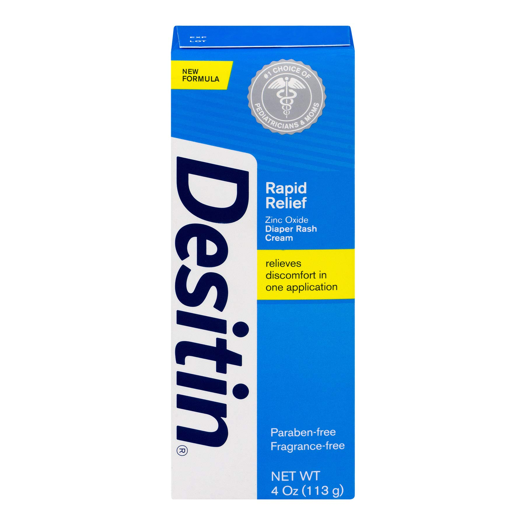 DESITIN Rapid Relief Zinc Oxide Diaper Rash Cream 4 oz ( Pack of 9)