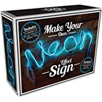 """iscream Fizz Creations Neon Effect LED Customizable Rope Accent Light, 9 ft 10 in Long, Blue, 9' 10""""L x .25""""W"""