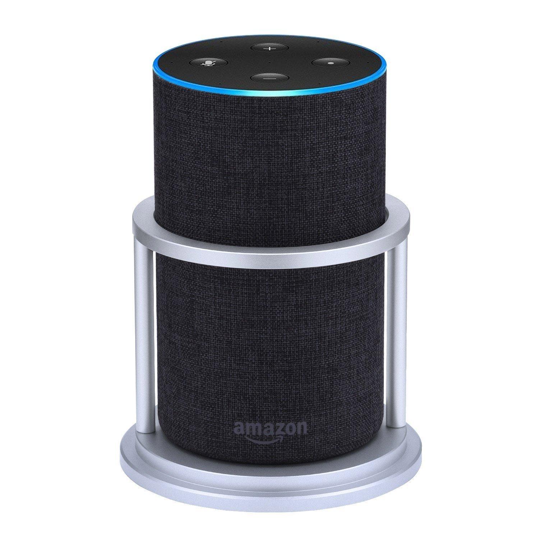 Speaker Stand for Alexa Echo 2nd Generation, Aluminium, Silver Azomor