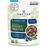 Navitas Organics Superfood Power Snacks, Blueberry Hemp, 8oz. Bag, 11 Servings - Organic, Non-GMO, Gluten-Free