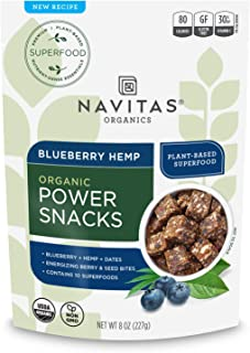 product image for Navitas Organics Superfood Power Snacks, Blueberry Hemp, 8oz. Bag, 11 Servings - Organic, Non-GMO, Gluten-Free