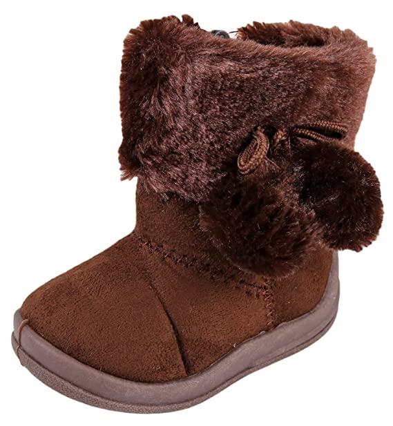 7514df08ce70 Amazon.com  Urban Kit Footwear Girls  Pom Pom Boots for Toddler Girls