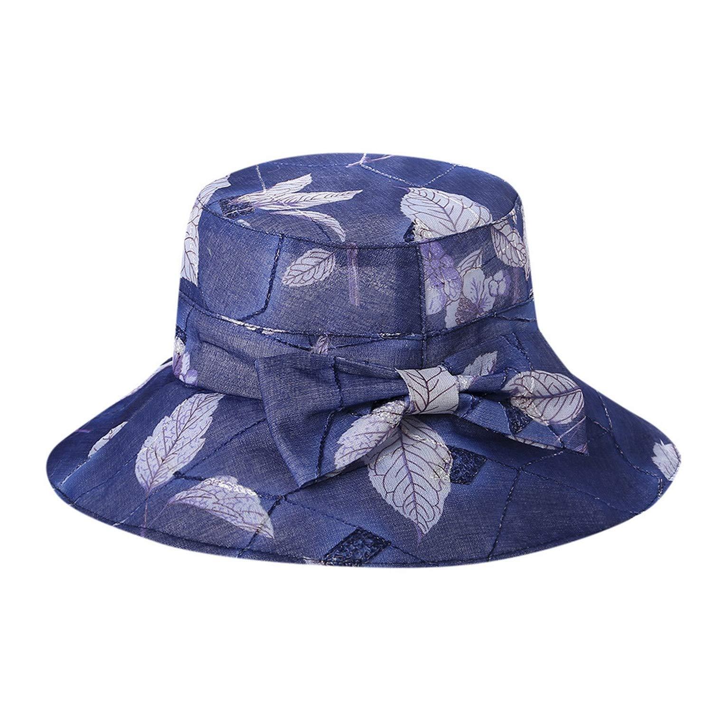 3599e0576 Amazon.com: Beauty-OU Hats for Women Bucket Hat Organza Church ...