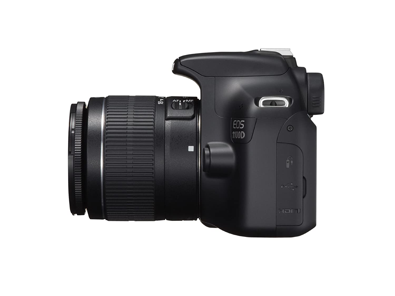 Canon Eos 1100d Dslr Camera And 18 55mm Is Ii Lens Kit 1300d Lensa 55 Iii Wifi Kamera Black Photo