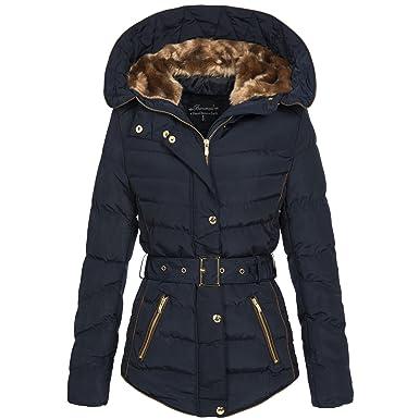 huge discount 51cd6 52075 Banarassi Damen Steppjacke Jacke Winterjacke Kurzmantel Mantel Wintermantel  Luna