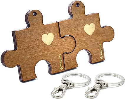 LIKY® Amor Puzzle - Llavero Partido corazón Me Completas ...