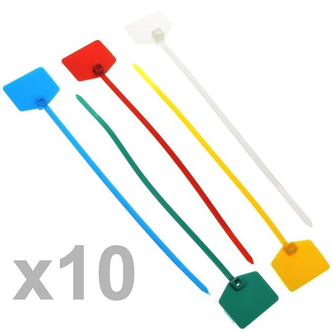 1 opinioni per Fascette in nylon con etichetta per cavi, da15,2cm, confezione da 50 pezzi