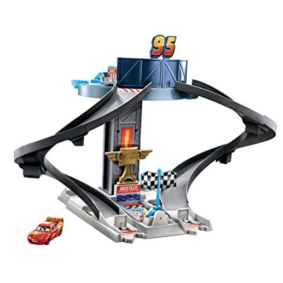 Disney and Pixar's Cars Rust-Eze Racing Tower Race Car Track Set for Movie Story Play: Toys & Games