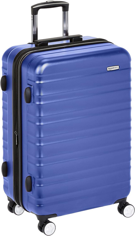 AmazonBasics - Maleta rígida de alta calidad, con ruedas y cerradura TSA incorporada - 78 cm, Azul