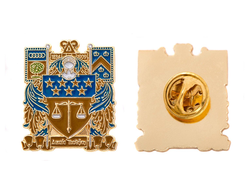 Desert Cactus Delta Upsilon Fraternity Crest Lapel Pin Enamel Greek Formal Wear Blazer Jacket DU
