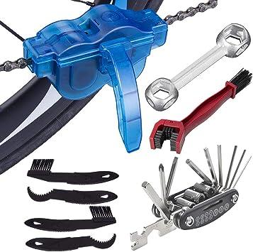 Osuter 8PCS Kit de Cepillo de Limpieza Limpiador de Cadena de ...