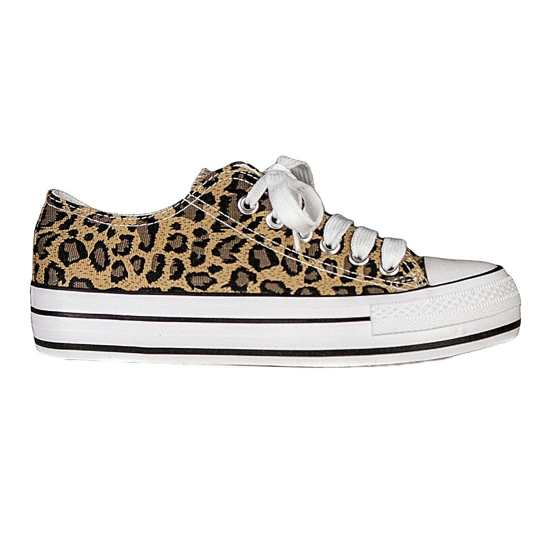 Toocool - Scarpe donna ginnastica leopardato animalier sneakers basse sport nuove 105-5C [36,leopardato]