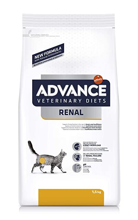 Advance Veterinary Diets pienso para Gatos trastornos Rénaux 1,5 kg – Pack de 8