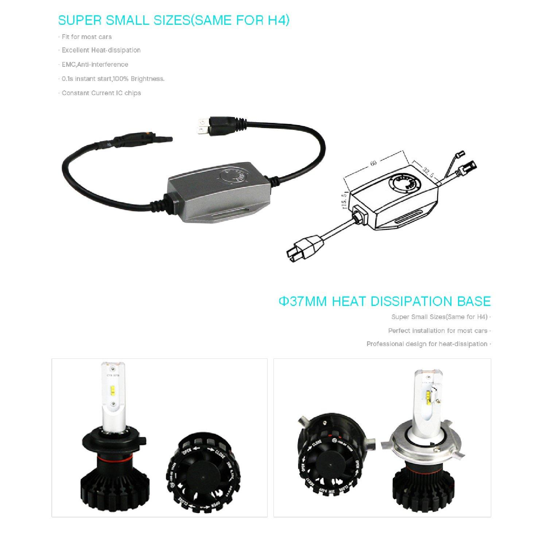 6000K Cool White Phillips Z ES Chip.| 2018 Newest Model | 2 Yr Warranty PrimeLED LED Headlight Bulbs PRIME LED SB Series 9006 2x28W 12000 Lumens HB4 | CANBUS Error Free 9006