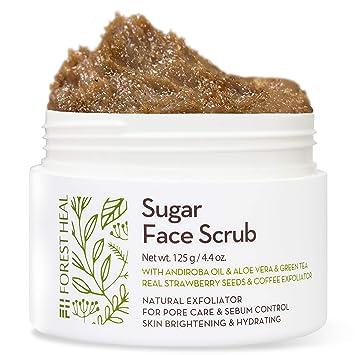 Amazon Com Face Sugar Scrub Facial And Body Exfoliator For