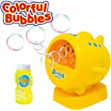 Geekper Bubble Machine for Kids - [ Upgrade ] Automatic Bubble Blower Durable Bubble Maker - 500 Bubbles per Minute Simple with Bubbles Solution Refill and Easy to Use