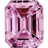 1.22 Ct. | Emerald | Crocus Pink Color | VS2 Clarity | U.S. Man Made Diamond