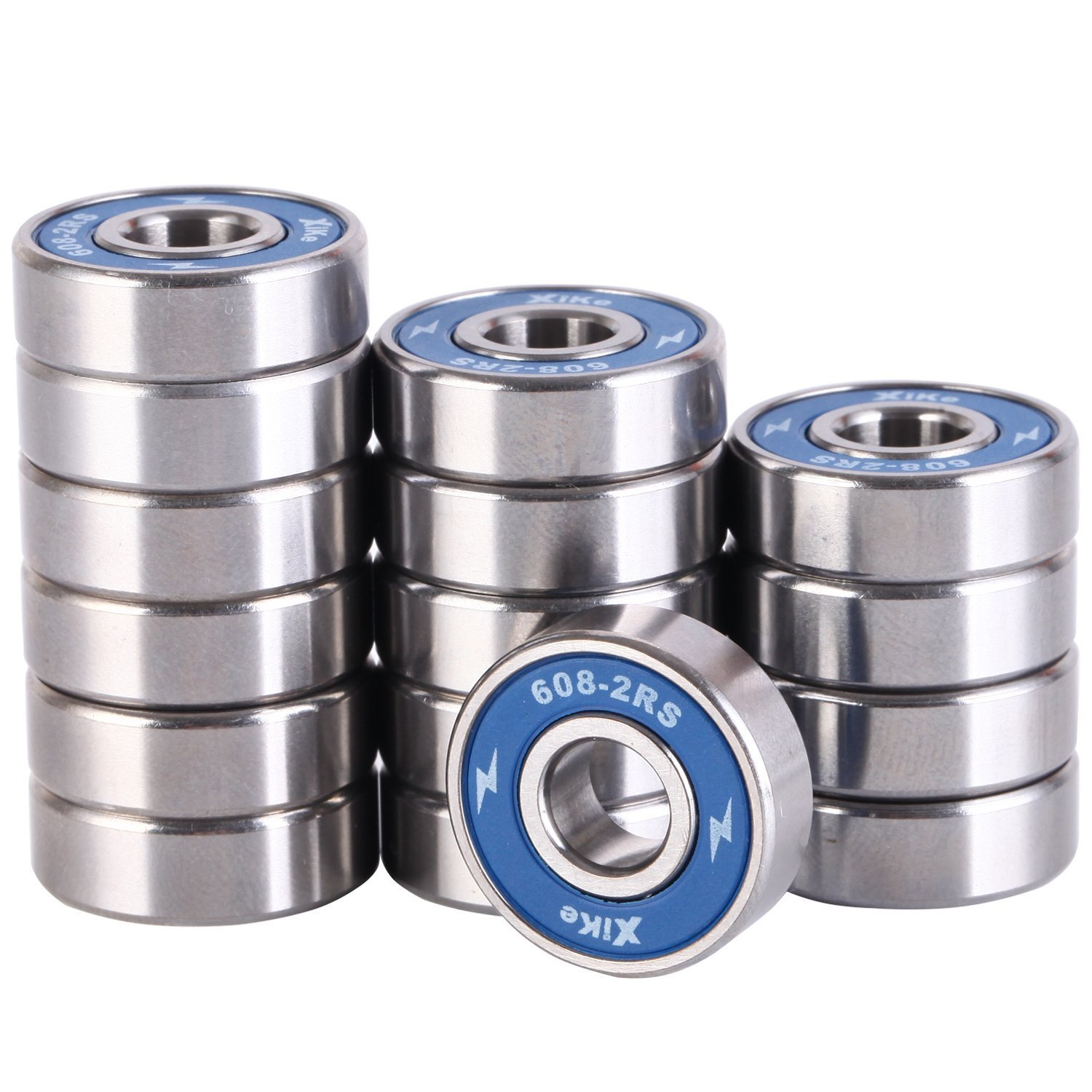 Amazon 16 Pack 608 2RS Skateboard Bearings 8x22x7mm Double