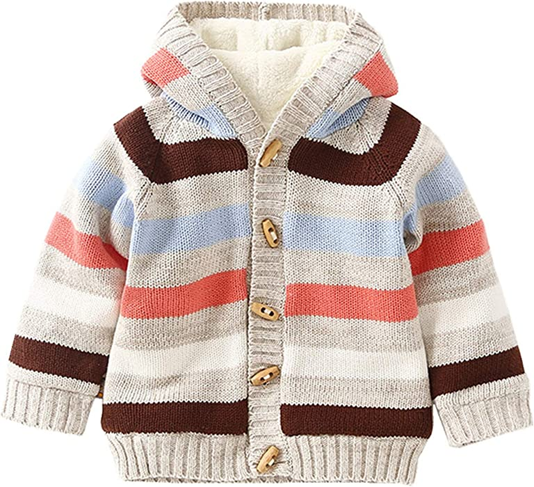 1e1558ae2 Amazon.com  Baby Toddler Boys Girls Striped Long Sleeve Sweaters ...