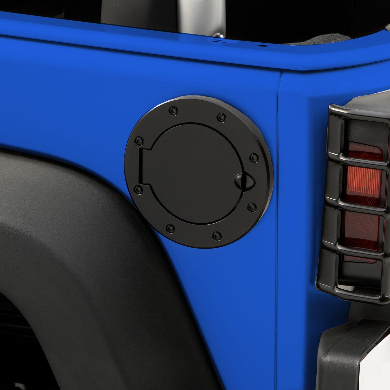 Outland 391122902 Black Non-Locking Gas Cap Door for Jeep JK Wrangler