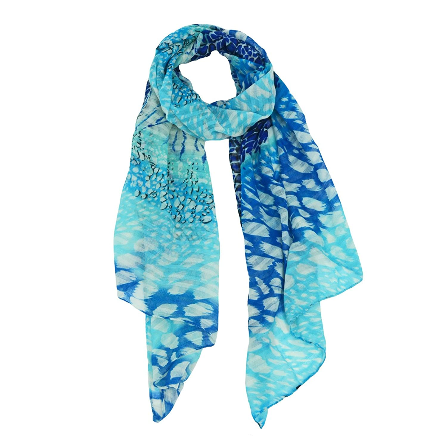 Sidney Abstract Animal Print Scarf