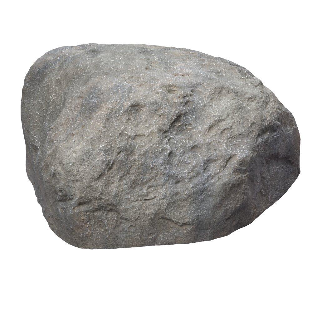 Outdoor Essentials Faux Boulder Rock,  Grey,  Large
