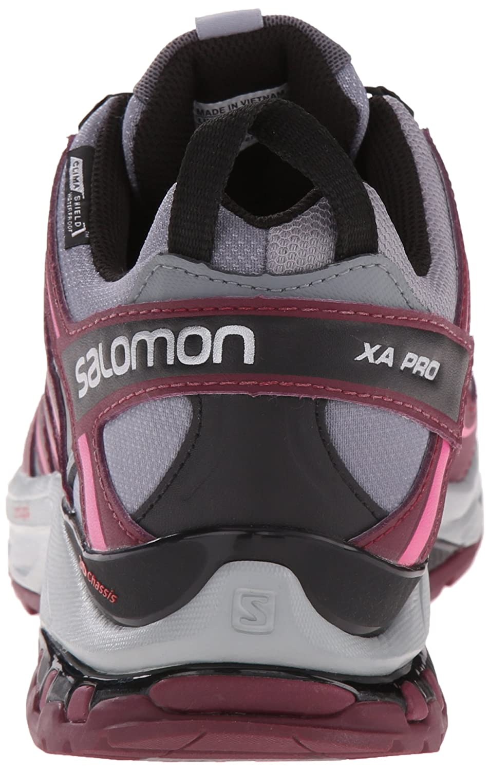 Salomon Women's XA Pro 3D CS Waterproof W 9 Trail Running Shoe B00ZLN4PZM 9 W B(M) US|Pearl Grey/Bordeaux/Hot Pink faf359