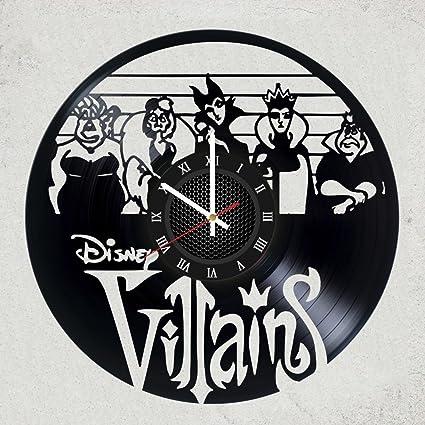 Home Decor USA DISNEY VILLAINS VINYL RECORD WALL CLOCK