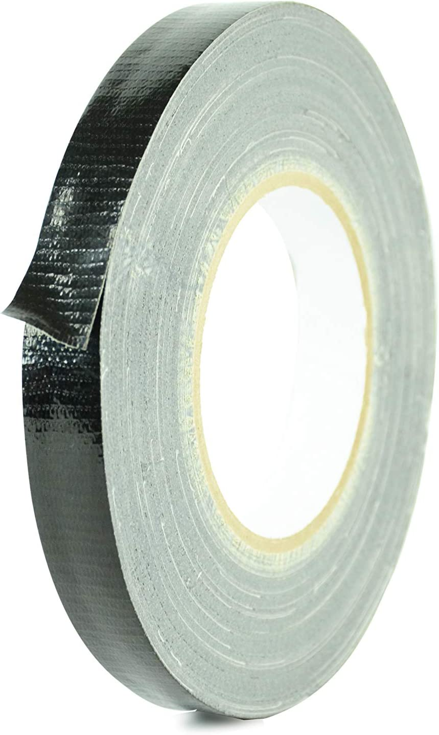 MAT Duct Tape Black Industrial Grade, 1 inch x 60 yds. Waterproof, UV Resistant for Crafts, Home Improvement, Repairs, Projects