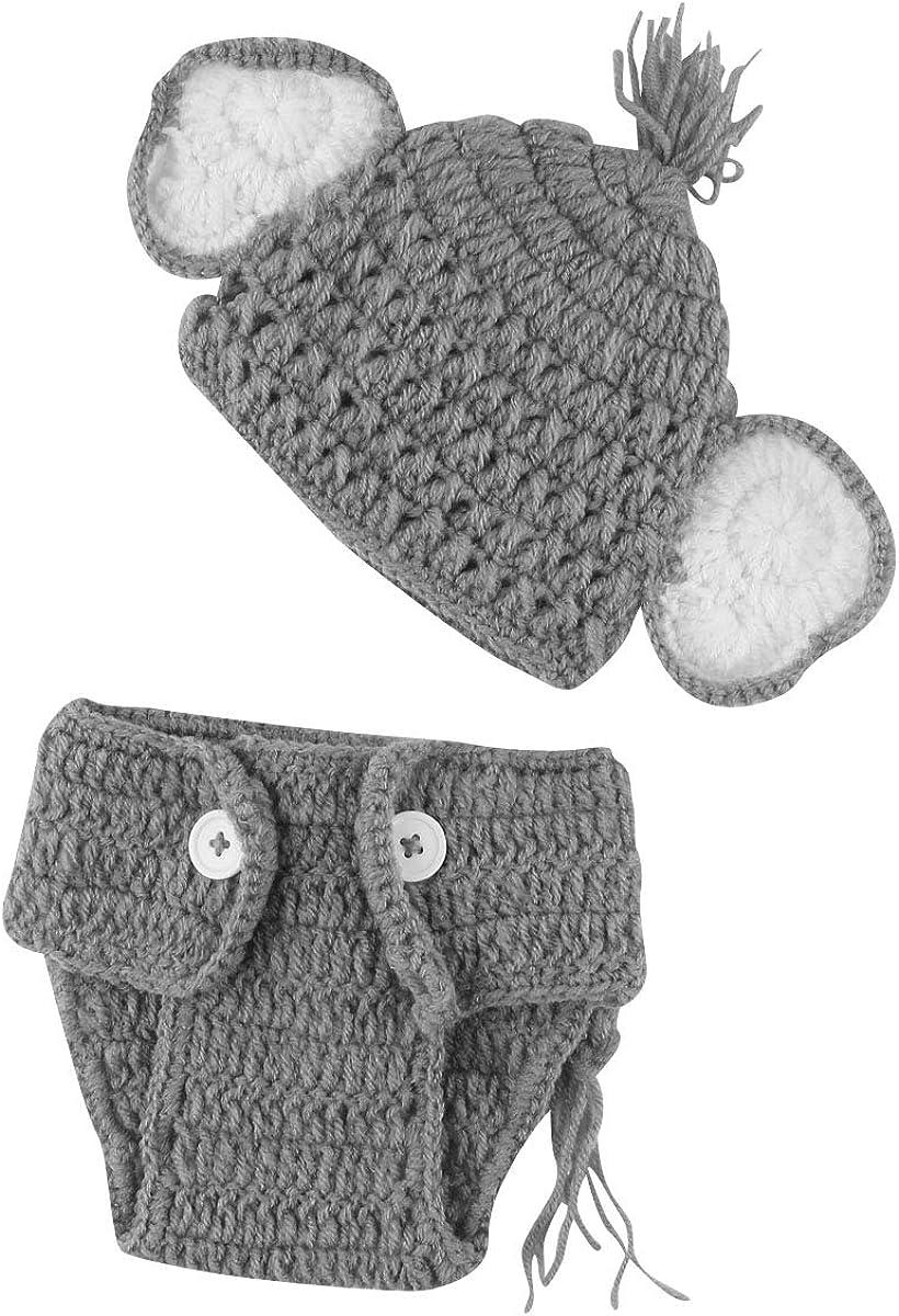 Chennie Bebé recién Nacido apoyos de la Foto de Punto de Ganchillo Sombrero + Pantalones Conjunto Accesorios de fotografía Trajes de Disfraces