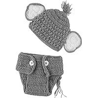 Chennie Bebé recién Nacido apoyos de la Foto de Punto de Ganchillo Sombrero + Pantalones Conjunto Accesorios de…
