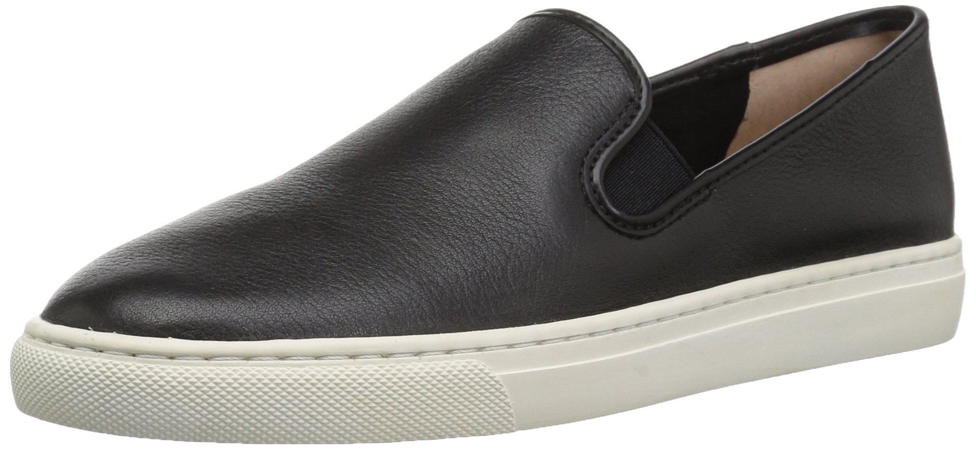206 Collective Women's Cooper Perforated Slip-on Fashion Sneaker, Black Leather, 7 B US