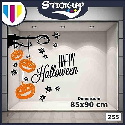 d3fe51a24d45 Vetrofanie Halloween Adesivi Halloween - Ramo Happy Halloween - Misure  85x90 cm - Nero e Arancio - Vetrofanie per Halloween, vetrine Negozi, ...