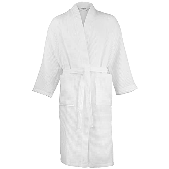 0dd7f9ae9e Unisex Towel City Soft Waffle Kimono Robe Dressing Gown  Amazon.co.uk   Clothing