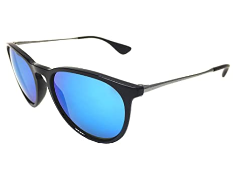 f2e888f34908c Image Unavailable. Image not available for. Color  New Ray Ban RB4171 601 55  Black Blue Mirror 54mm Sunglasses