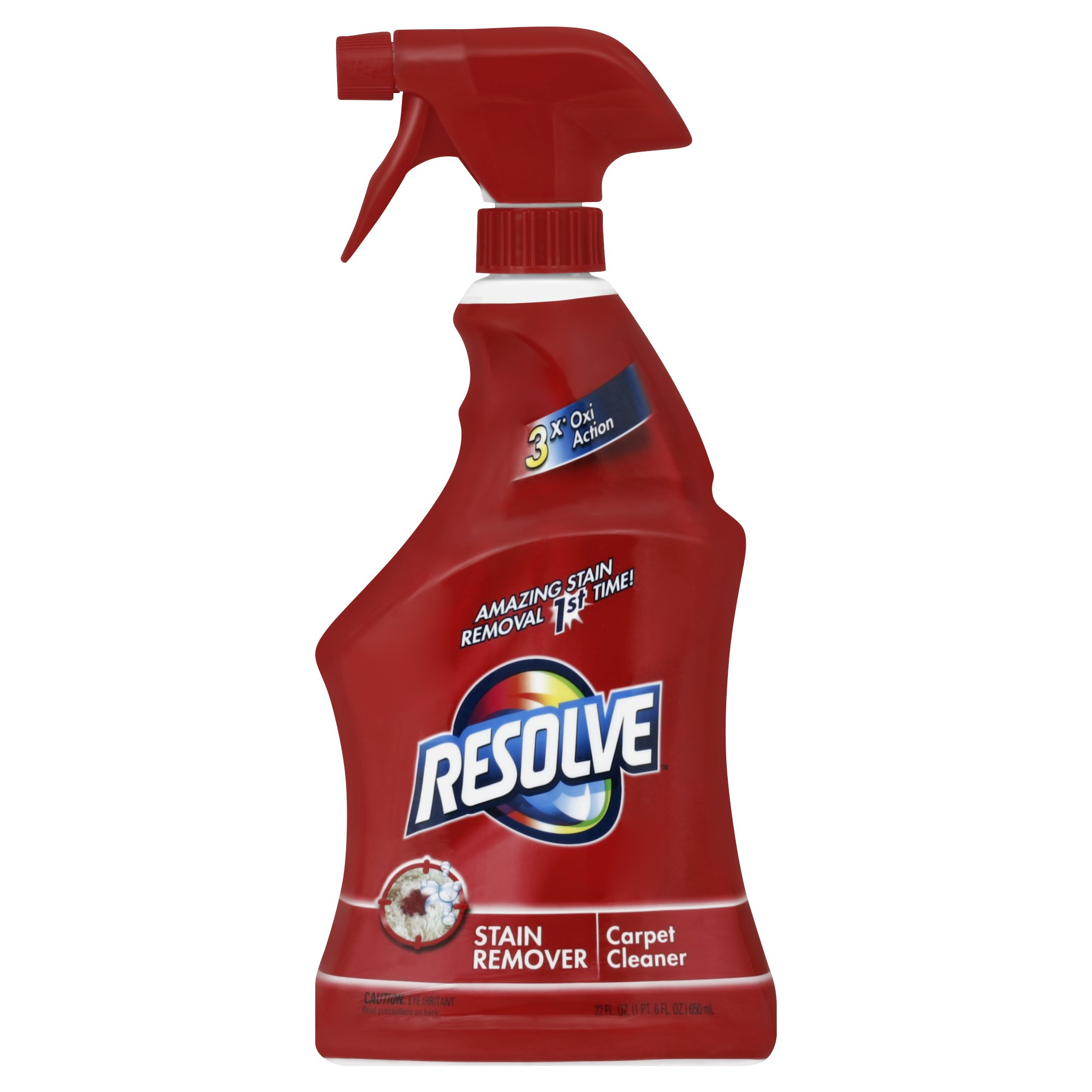 Resolve Carpet Cleaner with Triple Oxi Action Advanced Carpet Stain Remover, 22 oz (Pack of 12)