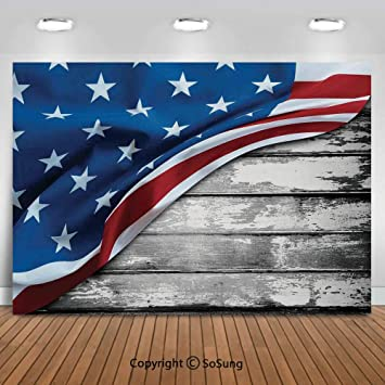 Flag and Wooden Board Wedding Baby Photography Background Custom Photography Studio Photography Background