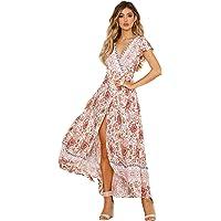 SEMIR Mujeres Sexy Cuello en V Boho Estampado Floral Mini Vestido Casual Vintage Summer Beach Wrap Sash Vestido de Fiesta de Noche Corta