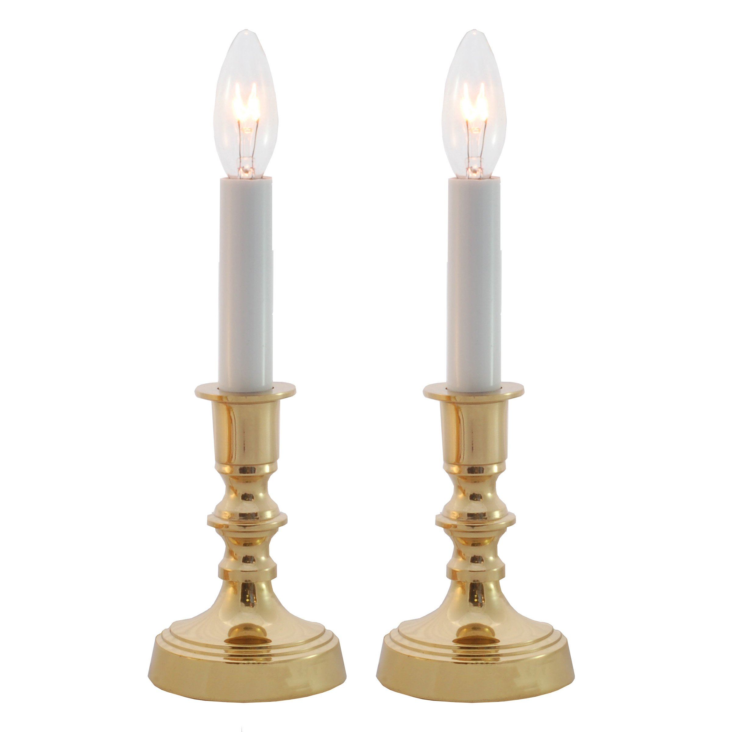 Solid Brass Window Accent Candle Lamp Set of 2