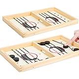 YESBAY Foosball Fast Sling Puck Game, Portable Table Desktop Slingshot Board Toy, Fast Sling Puck Game Paced, Ice Hockey Game