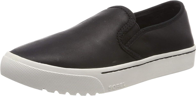 Sorel Damen Campsneak Slip On Sneaker, Black Full Grain