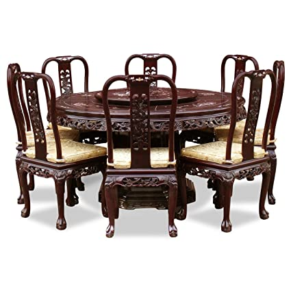 Amazoncom Chinafurnitureonline Rosewood Dining Table 60 Inches