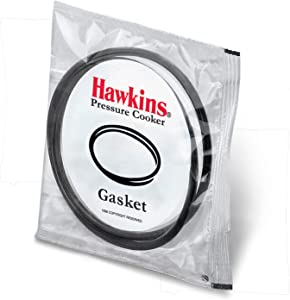 Hawkins Gasket for 3.5 to 8-Liter Pressure Cooker Sealing Ring, Medium, Black