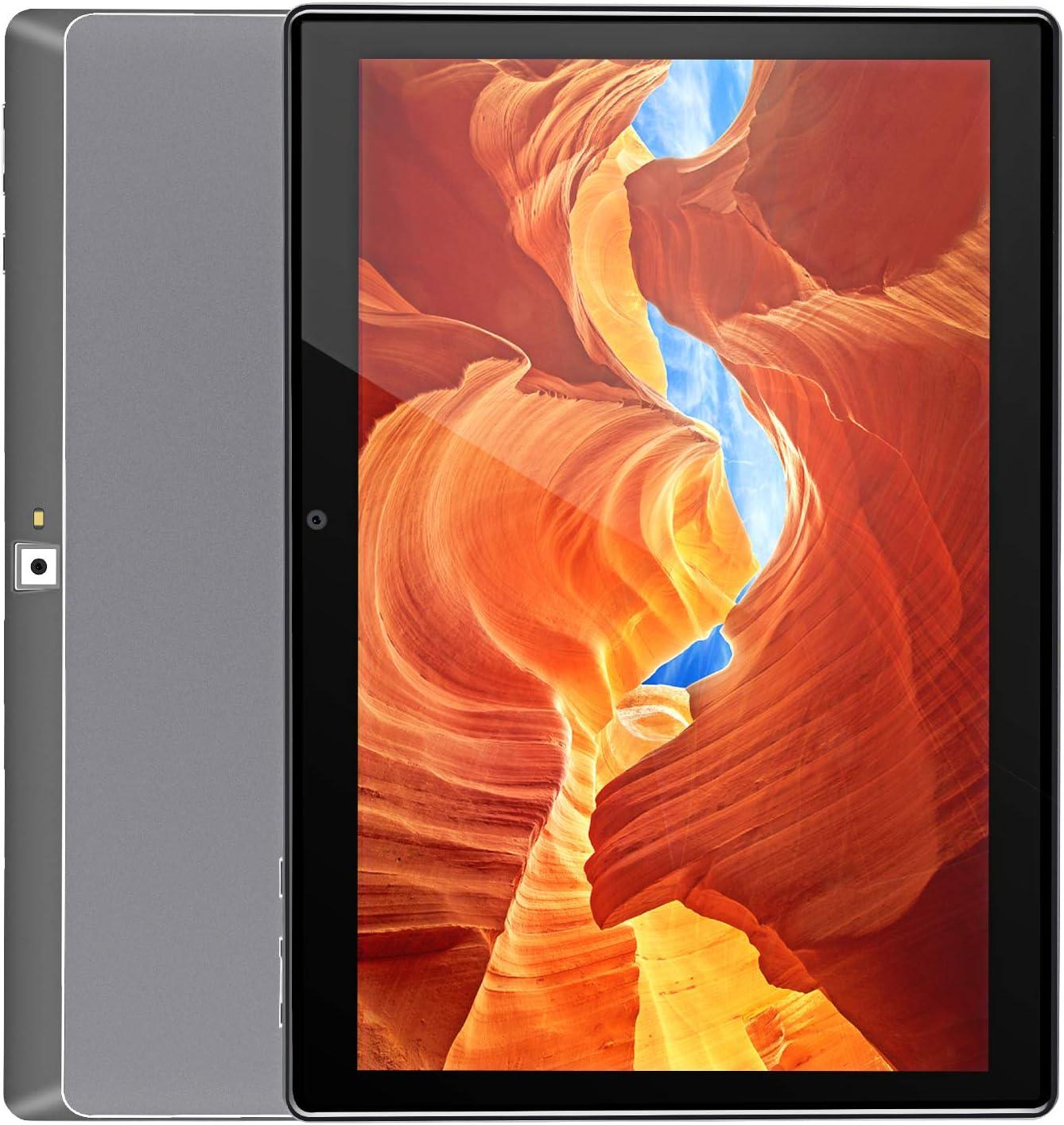 Tablet 10.1 inch,Android 9.0 Pie,2GB RAM,32GB Storage,1280x800 G+G IPS HD Display,2MP+8MP Camera,Bluetooth,Wi-Fi,GPS,Type-C Port,Metal Body(3G-Gray)