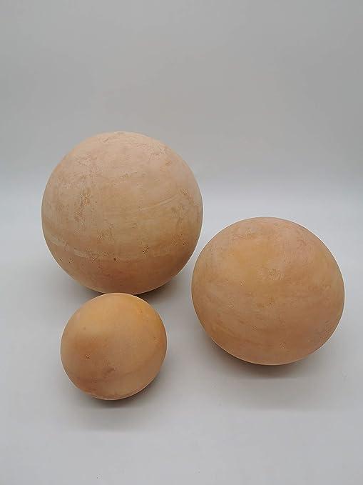 Juego de 3 Deko bola jardín Terracota 12 cm 16 cm 20 cm a las ...