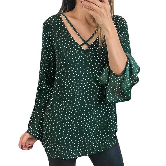 Blusas Mujer, ASHOP Casual Ola Punto Sudaderas Moda Elegantes Ropa en Oferta Camisetas Manga Larga